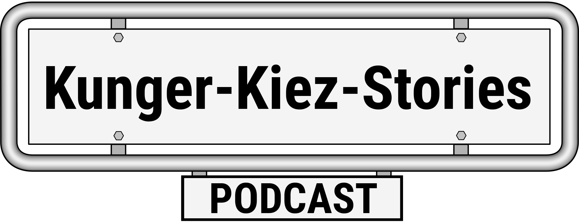 Logo for Kunger Kiez Stories // Podcast